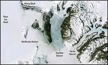 แผนที่ ขั้วโลกใต้ ขนาดใหญ่สีสันชัดเจนเหมือนจริง