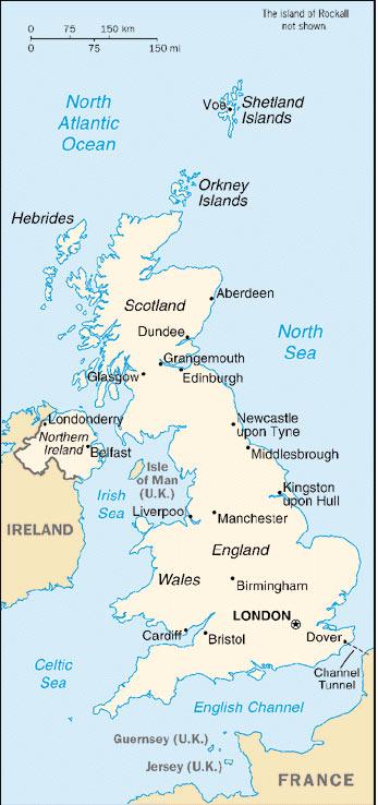 แผนที่ประเทศอังกฤษ