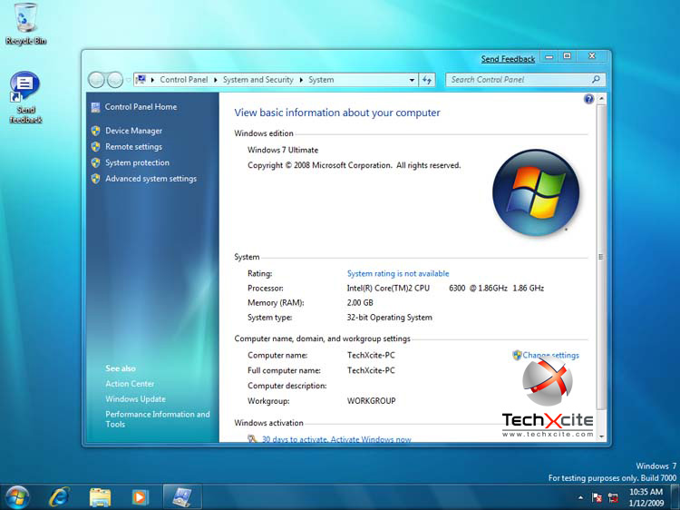 Windows 7 Build 7000