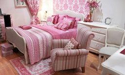 ห้องนอนสีชมพู เอาใจสาวหวาน ให้นอนหลับฝันดี
