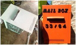 DIY กล่องจดหมายจากไมโครเวฟเก่า