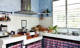 เนรมิตห้องครัวใหม่ไฉไลกว่าเดิม ด้วยเทคนิคฉาบขัดมัน 2 สี