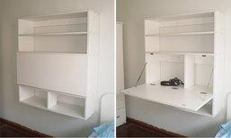 DIY ทำเองใช้เอง โต๊ะ 2 in 1 สำหรับห้องขนาดเล็ก