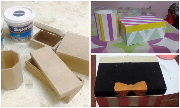 DIY เพนท์กล่องเรียบๆ ให้เป็นของขวัญสุดเก๋