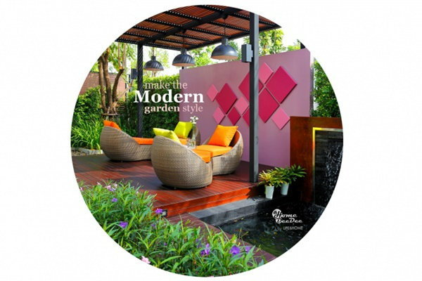 สร้างสวนโมเดิร์น เรียบง่าย ภายในบ้าน