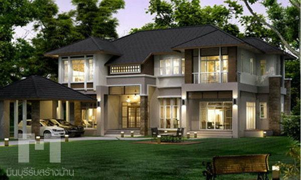 แบบบ้านหรู 2 ชั้น สไตล์ Contemporary