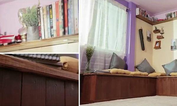 เปลี่ยนมุมเปล่าเป็นมุมโปรด ตอน Smart Makeover มุมพักผ่อนริมหน้าต่าง