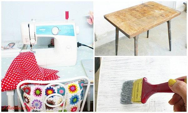 แปลงโฉม โต๊ะเก่า มาเป็นโต๊ะใหม่ ให้น่ารัก และน่าใช้กันค่ะ