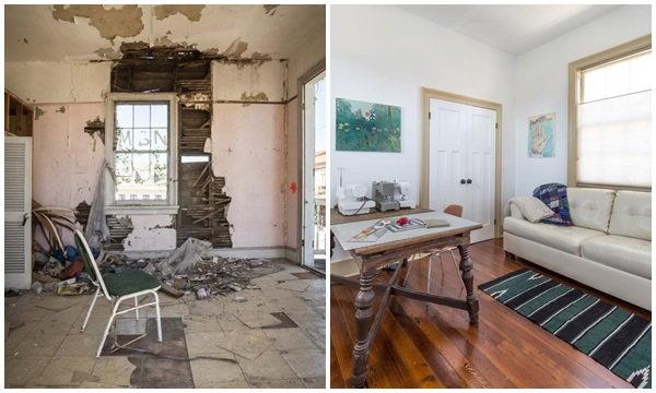 รีโนเวทบ้านเก่าโทรมศตวรรษที่ 19 เป็นบ้านไม้หลังใหม่โอ่อ่า น่าอบอุ่น