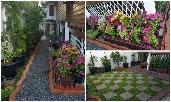 จัดสวนข้างบ้าน..กับบ้านอายุ 30 ปี..ใช้เวลาหลังเลิกงานวันละ 1-2 ชม.