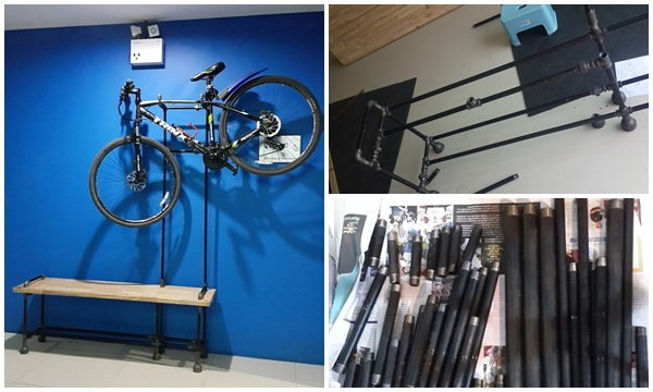 DIY : ม้านั่งแขวนจักรยาน industrial style