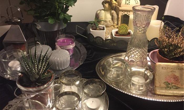 Home Decor งานจัดถาด ดอกไม้ แจกัน เชิงเทียน Romantic Vintage
