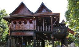 บ้านไม้ยกพื้นสูง แบบบ้านทรงไทยโบราณดั้งเดิม
