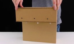 DIY ทำตู้กดน้ำเอง มีแค่กล่องกระดาษก็ทำได้แล้ว