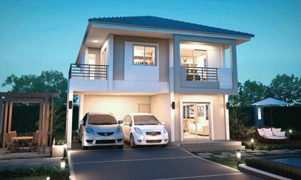แบบบ้าน 2 ชั้น ในราคาสุดคุ้ม เรียบง่ายแต่ดูดีจาก ซีคอนโฮม