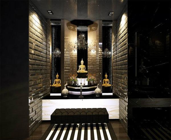 ห้องพระ  Home and Garden - Buddha Inspired Home Decor