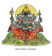 พระทิวมุข คณปติ (Dwimukha Ganapati)