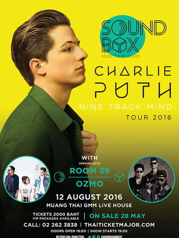 SOUNDBOX..Charlie Puth Nine Track Mind Tour 2016