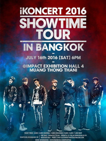 iKONCERT 2016 'SHOWTIME TOUR' IN BANGKOK