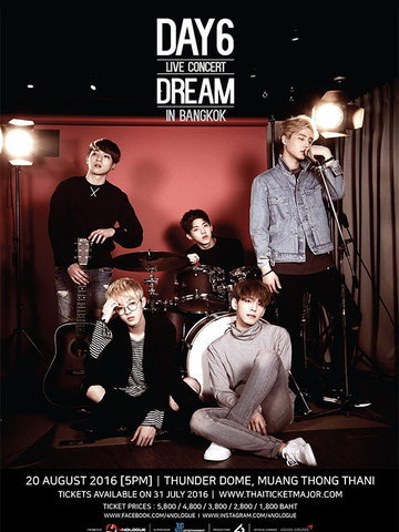 DAY6 LIVE CONCERT DREAM IN BANGKOK
