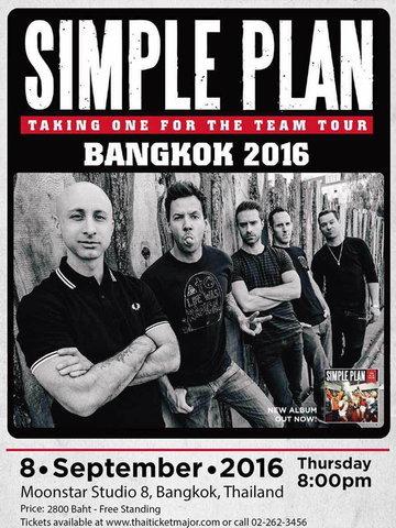 SIMPLE PLAN TAKING ONE FOR THE TEAM TOUR BANGKOK 2016