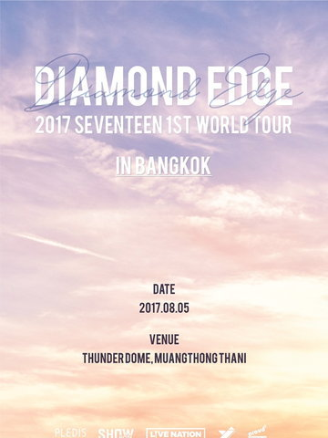 "2017 SEVENTEEN 1ST WORLD TOUR ""DIAMOND EDGE"" IN BANGKOK"