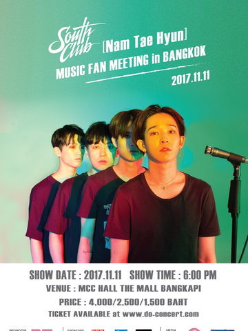 South Club  (Nam Tae Hyun) Music Fan Meeting in Bangkok