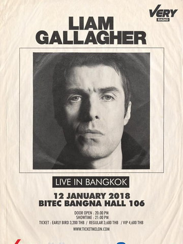 Liam Gallagher Live in Bangkok
