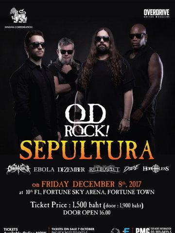 """""""OD ROCK FEST"""" Sepultura Live in Bangkok"""