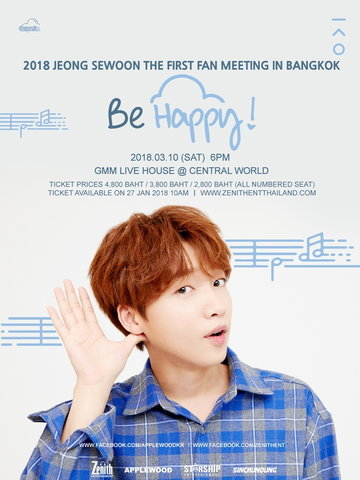 "JEONG SEWOON THE FIRST FAN MEETING IN BANGKOK ""BE HAPPY!"