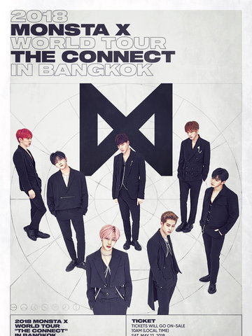"2018 MONSTA X WORLD TOUR ""THE CONNECT"" in BANGKOK"