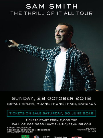 Sam Smith : The Thrill Of It All Tour