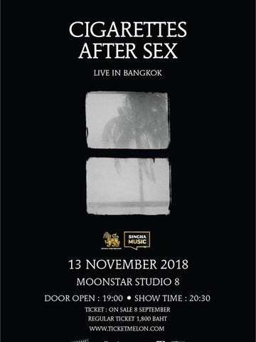Cigarettes After Sex Asia 2018 Tour Live in Bangkok