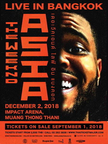The Weeknd Asia Tour Live in Bangkok