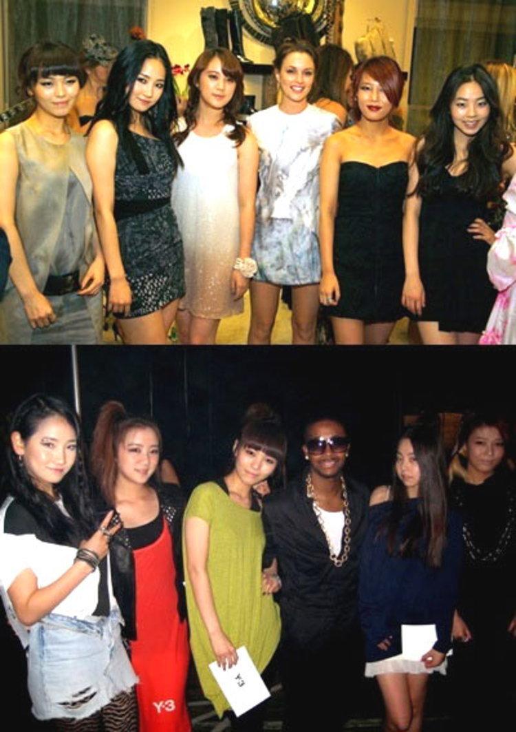 Wonder Girls กระทบไหล่ดาราฮอลลีวู๊ด Leighton Meester และนักร้องฮิพฮอพ Omarion