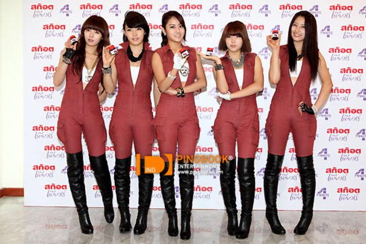 5 สาว 4minute ลัดฟ้าเยือนไทยเปิดตัวภ.โฆษณา สก๊อต เพียวเร่ ณ Supreme Complex