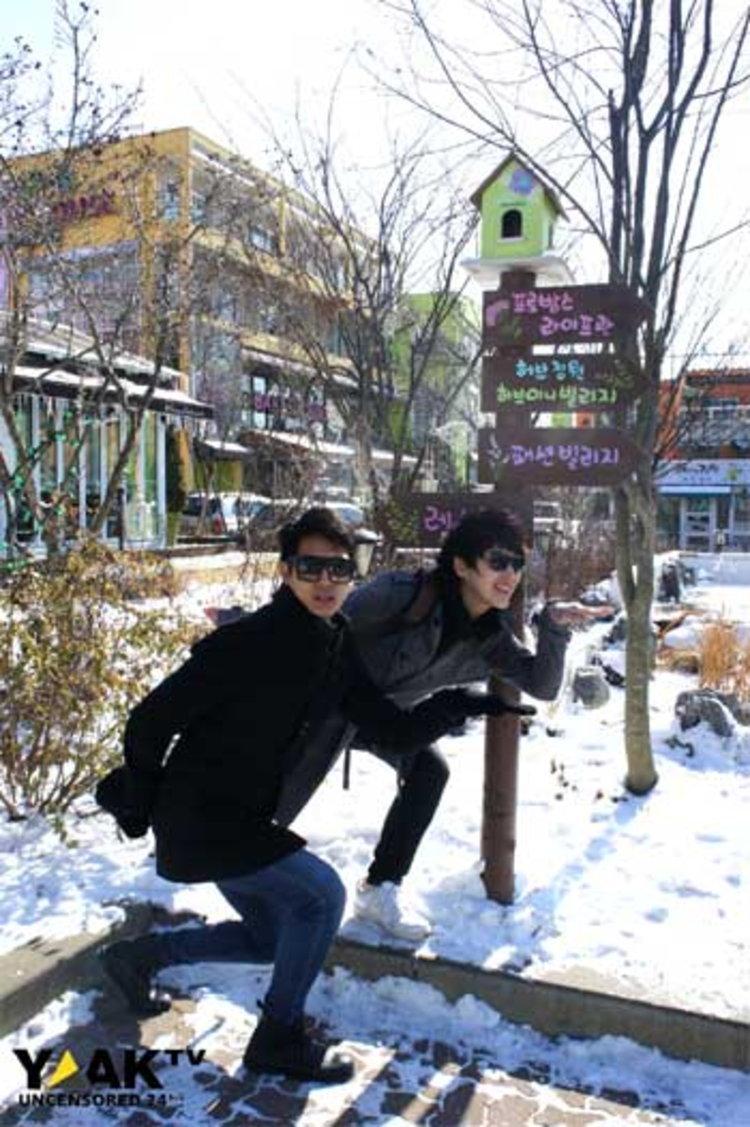 ปั้นจั่น-โด่ง กอดคอท่อง เกาหลี เล่นสกี ทำกิมจิ