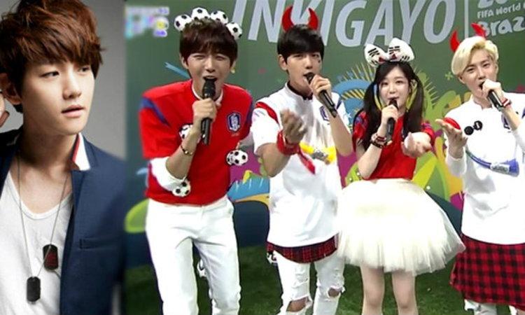 """แฟนๆ ตะโกนใส่ """"แบคฮยอน"""" EXO ว่า คนทรยศ !! ใน Inkigayo"""