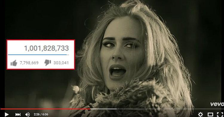 โหดมาก! เพลง Hello ของ Adele มียอดวิวหนึ่งพันล้านวิวในเวลาไม่ถึง 3 เดือน