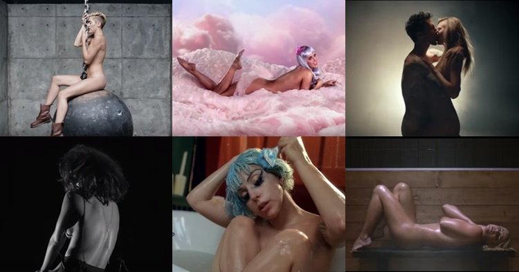 """7 มิวสิควิดีโอที่ศิลปินต้อง """"เปลื้องผ้า"""" หมดจด!"""