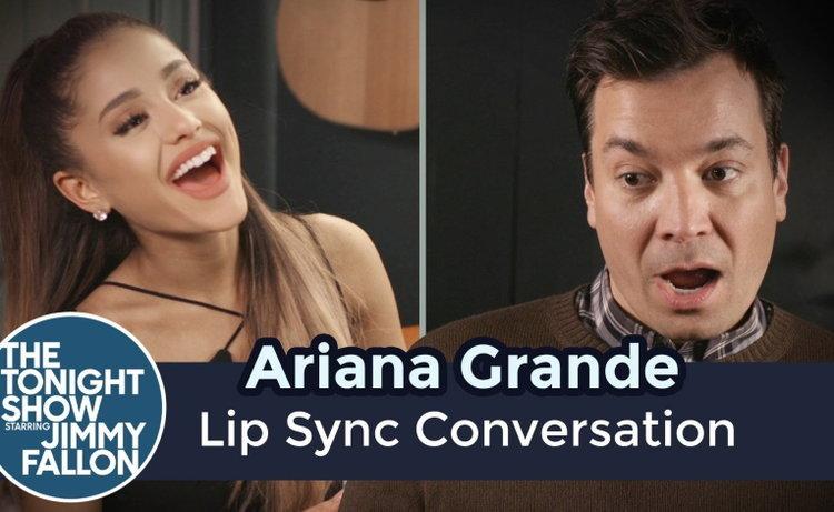 อย่างฮา! Ariana Grande ลิปซิงค์เพลงเป็นสิบๆ กับ Jimmy Fallon