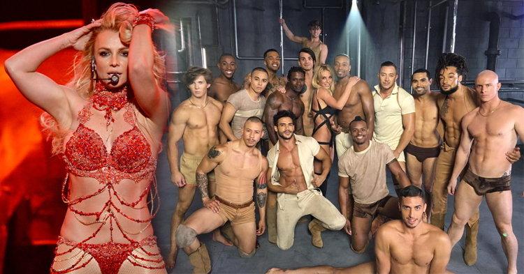"Britney Spears แซ่บลืมกับแผงแดนเซอร์หล่อล่ำ เบื้องหลัง MV ""Make Me Oooh"""