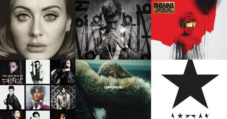 10 อัลบั้มยอดขายสูงสุดในรอบครึ่งปีแรก 2016