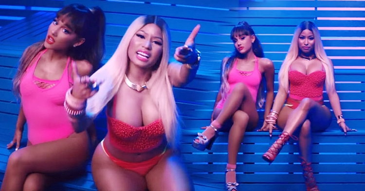 "Ariana Grande สวยเซ็กซี่ย้อนยุคกับ Nicki Minaj ใน ""Side To Side"""