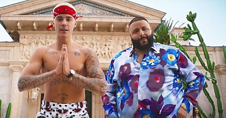 "Justin Bieber ร่าเริงสนุกสนานกับ DJ Khaled แอนด์เดอะแก๊งใน ""I'm the One"""