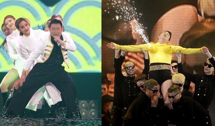 นายแน่มาก!! PSY เจ้าของเพลง กังนัมสไตล์ โชว์เต้นเพลงเกิร์ลกรุ๊ปในคอนเสิร์ต