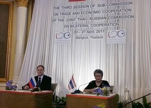 ไทย-รัสเซีย มั่นใจขยายการค้า5เท่าในปี63