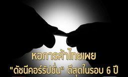 """หอการค้าไทยเผย """"ดัชนีคอร์รัปชั่น"""" ดีสุดในรอบ 6 ปี"""