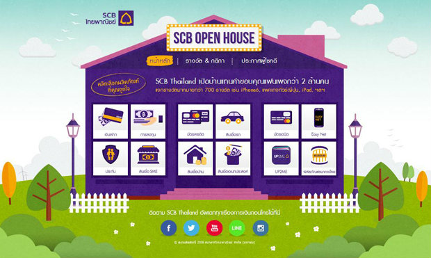 "SCB Thailand""เปิดบ้าน SCB"" ฉลองยอด LIKE 2.5 ล้าน ลุ้น iPhone 6, iPad Air 2 พร้อมรางวัลใหญ่อีกไม่อั้น"