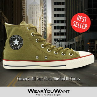 Converse All Star Stone Washed Hi-Cactus